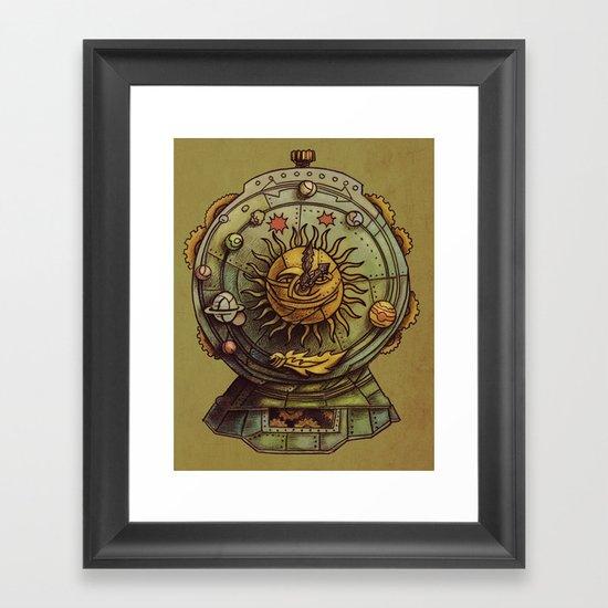 Cosmic Clock Framed Art Print
