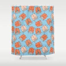 Pattern Project #48 / Lucky Bug Shower Curtain