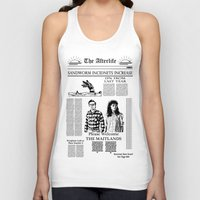 newspaper Tank Tops featuring The Afterlife Newspaper by KINGOFTHERATS