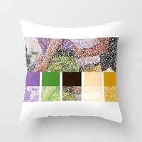 klaine Throw Pillows featuring Color You Into My Life by Jen K