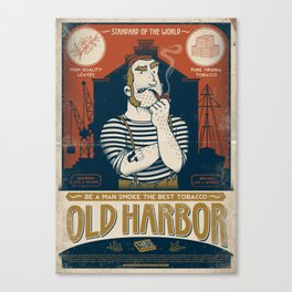 Classic Posters. Old Harbor Canvas Print