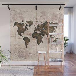 Coffee World Map Wall Mural