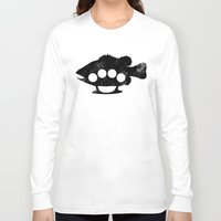 bass Long Sleeve T-shirts featuring Bass Knuckles by Jonah Makes Artstuff