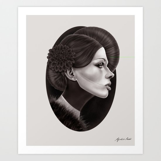 """The Black Dahlia"" Art Print"