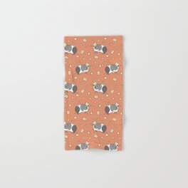 Guinea pig Pattern, Popcorning Hand & Bath Towel