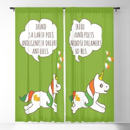 St. Patrick's Day Unicorn 3 Blackout Curtain
