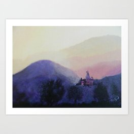 Zen Mountains Art Print