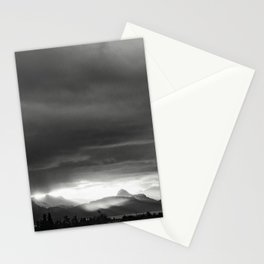 Sunrise over Kachemak Bay, Alaska - Black and White Stationery Cards
