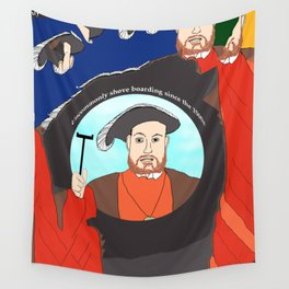 King Henry VIII Plays Shuffle Wall Tapestry