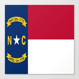 flag of north carolina-south,america,usa,Old North State,Tar Heel,North Carolinian,Charlotte,Raleigh Canvas Print