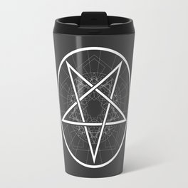 Baphomet Pentagram Star - Satanic sign Travel Mug
