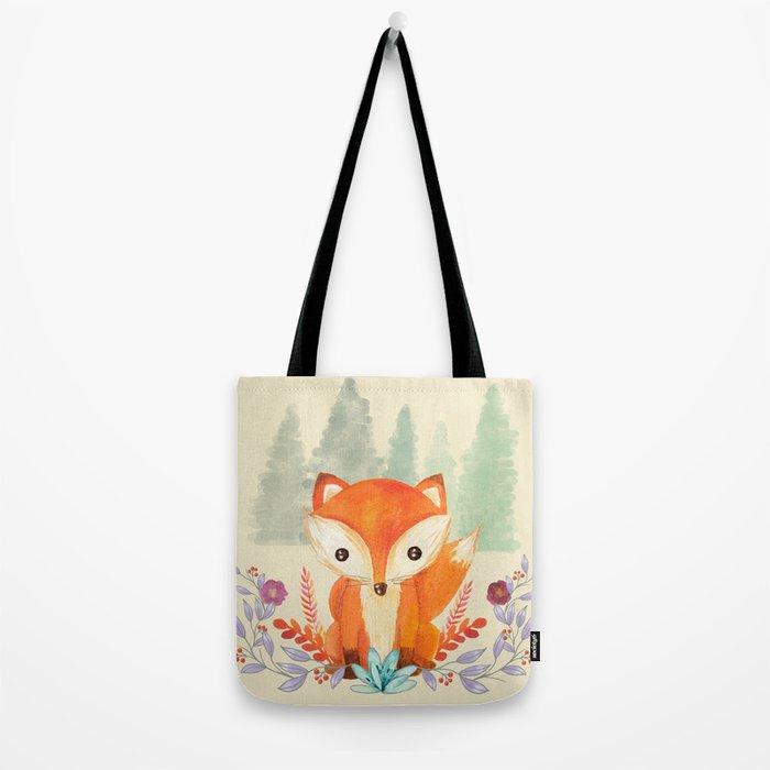 Evergreen Fox Tote Bag