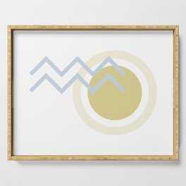 Abstract Sun Stream Serving Tray
