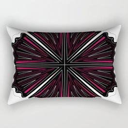 Black mandala art on white Rectangular Pillow