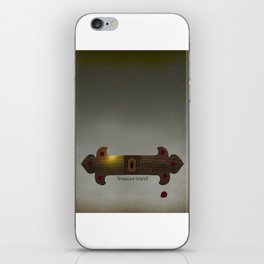 Treasure Island Minimal Poster iPhone Skin