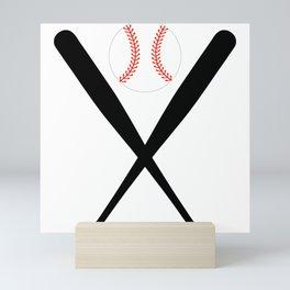 american baseball league Mini Art Print