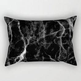 Black marble texture Rectangular Pillow
