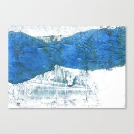 Lapis lazuli abstract watercolor Canvas Print