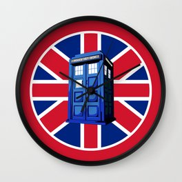 Tardis British Wall Clock