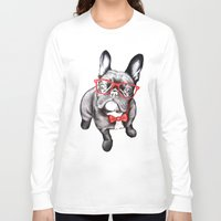 dog Long Sleeve T-shirts featuring Happy Dog by 13 Styx