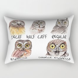 Owl Caffeine Meter -  funny owl coffee Rectangular Pillow