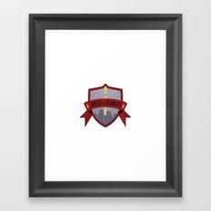 Speed of Scarlet Framed Art Print