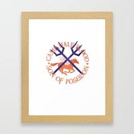 son of poseidon - cabin shirt Framed Art Print