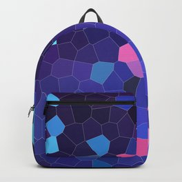 Mosaic in Blue, Turquoise and Pink Backpack