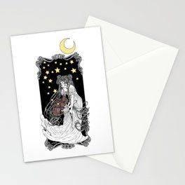The Rabbits in the Moon Stationery Cards