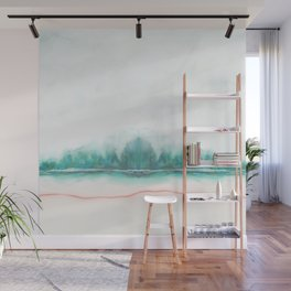blue and green Wall Mural
