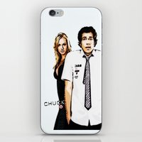 chuck iPhone & iPod Skins featuring Chuck by SyafSyaf