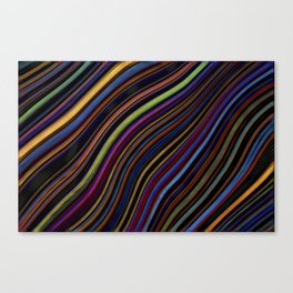 Wild Wavy Lines 04 Canvas Print