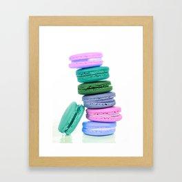 Macaroons  Pink Aqua Periwinkle Framed Art Print