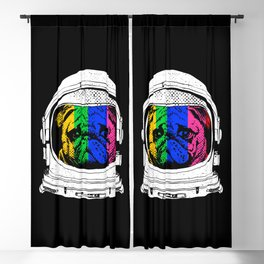 Astronaut Pug Blackout Curtain