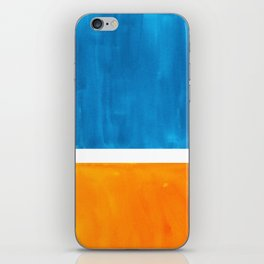 Colorful Jewel Tones Blue Gold Color Block Minimalist Watercolor Art Modern Simple Shapes iPhone Skin