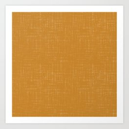 Simple solid mustard textured. Art Print