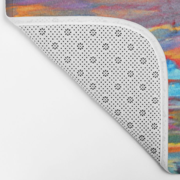 My Village | Colorful Small Mountainy Village Bath Mat