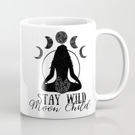 Stay Wild Moon Child Crystal Moons Meditation Coffee Mug