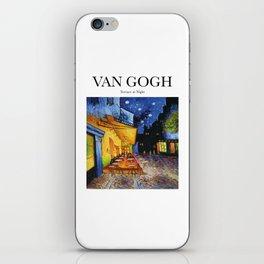 Van Gogh - Terrace at night iPhone Skin