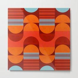 Abstraction_NEW_SUN_SHAPE_LOVE_PATTERN_POP_ART_068A Metal Print