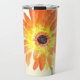 orange gerbera Travel Mug