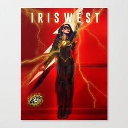 IrisFlashWest - Speed Force Covergirl Canvas Print