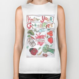 Know Your Groceries Biker Tank
