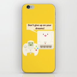 Don't let your dreams, be dreams! iPhone Skin