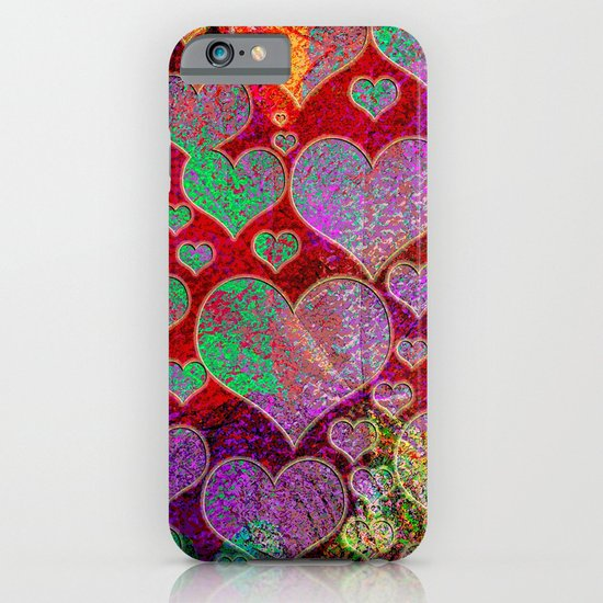 Hearts pattern iPhone & iPod Case