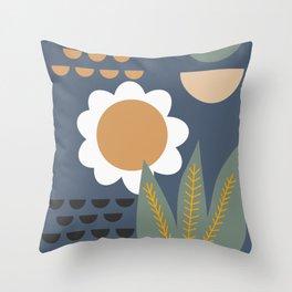 Minimal plant reunion Throw Pillow