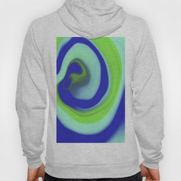 Green blue abstract pattern Hoody