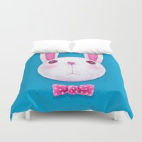 rabbit Duvet Covers featuring Rabbit by Lime
