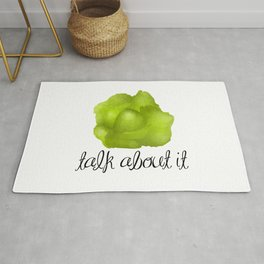 Lettuce Talk About It Rug
