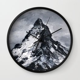 Matterhorn painting Wall Clock